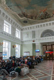 伏尔加格勒,俄罗斯- 11月04 2016年 火车站的候诊室 免版税图库摄影