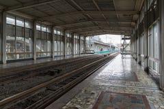 伏尔加格勒,俄罗斯- 11月03 2016年 Metrotram的空的驻地Pioneerskaya 库存图片