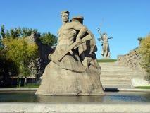 伏尔加格勒, Mamayev库尔干 免版税库存图片