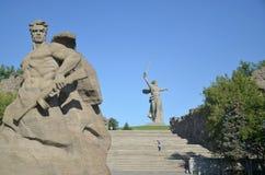 伏尔加格勒, Mamayev库尔干 免版税库存照片