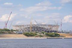 伏尔加格勒 俄罗斯- 2017年5月11日 橄榄球场的建筑的看法 库存图片