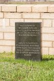 伏尔加格勒 俄罗斯- 2017年4月16日 纪念签到战士罗马尼亚公墓的疆土在争斗丧生的  库存照片