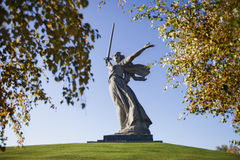 伏尔加格勒 雕塑 免版税图库摄影