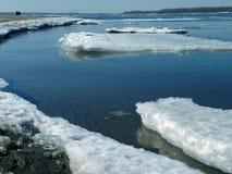伏尔加河在3月 免版税库存照片