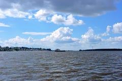 伏尔加河在Kostroma 免版税库存照片