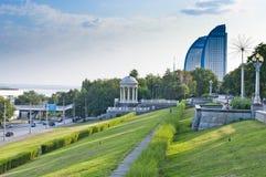 伏尔加河堤防 免版税库存照片