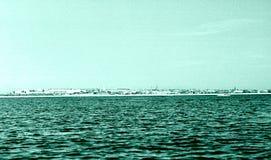 从伏尔加河的喀山视图1962年 免版税库存图片
