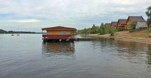 伏尔加河的银行的基于 图库摄影