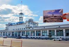 伏尔加河运输 库存图片