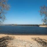 伏尔加河水力发电的驻地 免版税库存图片