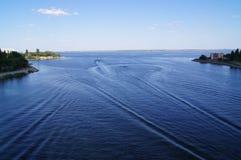 伏尔加河 库存图片