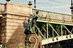 伏尔塔瓦河桥梁 图库摄影