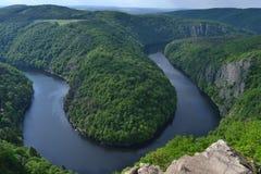 伏尔塔瓦河河的监视少校 库存图片