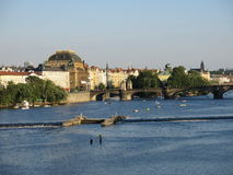 伏尔塔瓦河河,布拉格 图库摄影