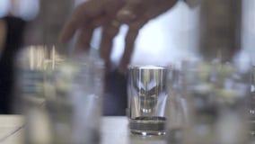 伏特加酒小玻璃 影视素材