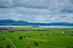 巴伐利亚的农村风景在德国 库存图片