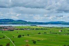巴伐利亚的农村风景在德国 免版税库存照片