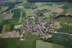 巴伐利亚的鸟瞰图 库存照片