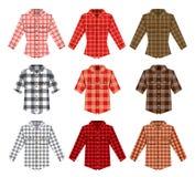 伐木工人检查衬衣伐木工人老时尚 库存例证