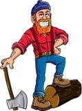 伐木工人漫画人物 免版税图库摄影