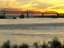 休伊・皮尔斯・朗桥梁--新奥尔良 库存照片