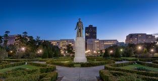 休伊・皮尔斯・朗纪念碑和坟茔 库存照片