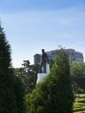 休伊・皮尔斯・朗雕象路易斯那州国会大厦的位于街市巴吞鲁日 库存照片