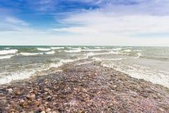休伦湖畔鲟鱼点 免版税库存图片