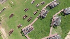 休息区域在Severnoye Tushino公园在莫斯科,俄罗斯 股票视频