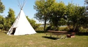 休息区,印地安帐篷 库存图片