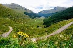 休息和是感激的山口,苏格兰 免版税库存图片