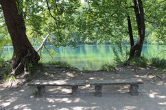 休息处在Plitvice 免版税图库摄影