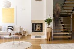 休息室木设计  免版税库存照片