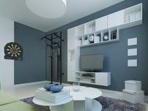 休息室现代风格 免版税库存照片