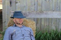 休息的农场工人 库存图片