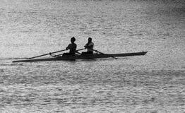 休息的划船者 库存图片
