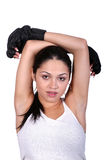 休息的妇女锻炼 图库摄影