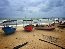 休息的小船季风季节 免版税图库摄影