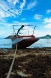 休息的小船 库存图片