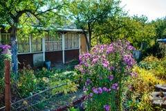 休息的木房子与蒸汽浴和大木字体 免版税库存照片