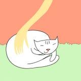 休息的猫 向量例证