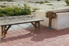 休息的长木凳 库存照片