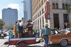 休斯敦圣帕特里克的游行 库存图片