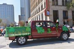 休斯敦圣帕特里克的游行 免版税库存照片
