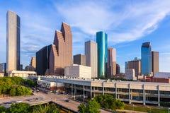 休斯敦地平线北部视图在得克萨斯美国 免版税库存照片