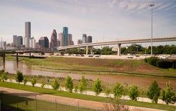 休斯敦地平线南部的得克萨斯大市街市大都会 免版税图库摄影