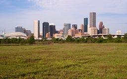 休斯敦地平线南部的得克萨斯大市街市大都会 库存照片