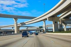 休斯敦得克萨斯交叉路桥梁美国 免版税库存图片