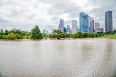 休斯敦街市洪水 免版税库存照片