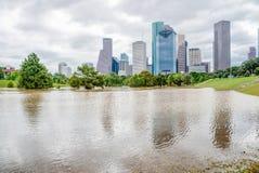休斯敦街市洪水 免版税图库摄影